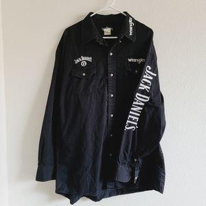 Wrangler Jack Daniel's Logo Button Up Shirt
